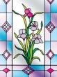 Lepená vitráž na sklo