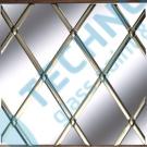 Lead Brass oval 6mm x 50m - olověná páska na skleněné vitráže