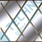 Lead Satin Brass oval 6mm x 50m - olověná páska na skleněné vitráže
