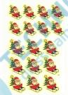 0060-0-01 Santa Klaus - malý + velký - obtisk na sklo